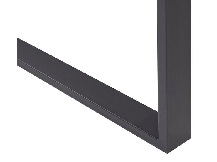 Stół do jadalni ciemne drewno z czarnym 160 x 80 cm prostokątny blat metalowe nogi dla 6 osób styl industrialny Płyta MDF Długość 160 cm  Rozkładanie