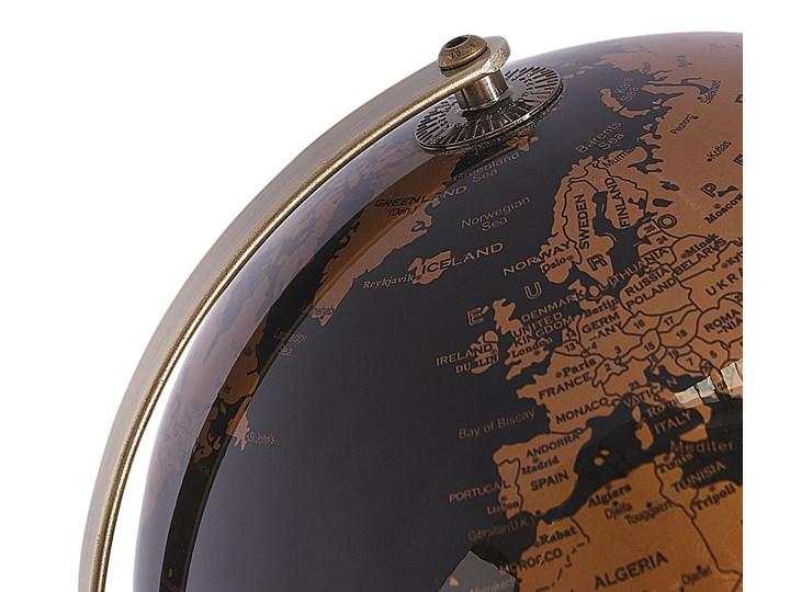 Globus czarny materiał syntetyczny średnica 23 cm podświetlany LED na biurko ozdobny dekoracyjny Metal Globusy Kategoria Figury i rzeźby