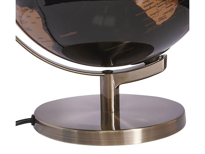 Globus czarny materiał syntetyczny średnica 23 cm podświetlany LED na biurko ozdobny dekoracyjny Globusy Metal Kategoria Figury i rzeźby Kolor Złoty