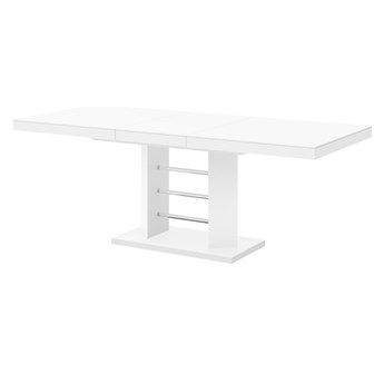 Rozkładany stół do salonu w wysokim połysku Linosa Lux
