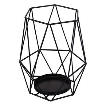 Świecznik metalowy geometryczny Altom Design czarny 18 cm