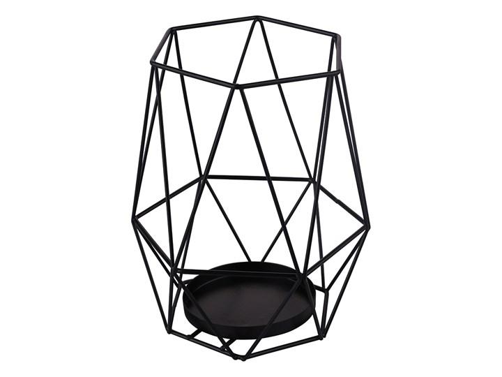 Świecznik metalowy geometryczny Altom Design czarny 18 cm Kategoria Świeczniki i świece