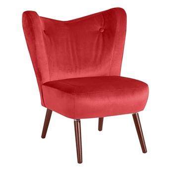Czerwony fotel Max Winzer Sari Velvet