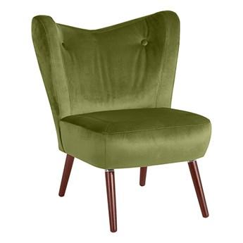 Zielony fotel Max Winzer Sari Velvet
