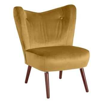 Żółty fotel Max Winzer Sari Velvet