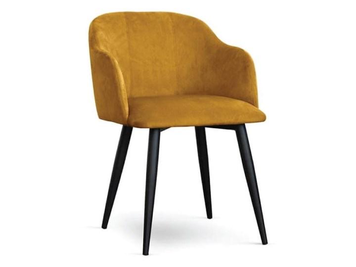 Krzesło kubełkowe MAGNEZ tapicerowane glamour welurowe Głębokość 63 cm Kategoria Krzesła kuchenne Drewno Tkanina Szerokość 55 cm Wysokość 78 cm Metal Tworzywo sztuczne Styl Industrialny