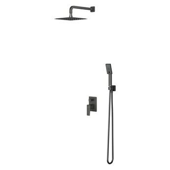 Parma system prysznicowy podtynkowy kompletny grafit SYSPM10GR