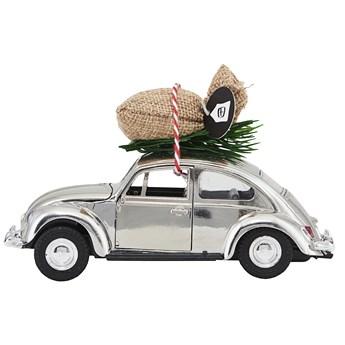 Figurka dekoracyjna XMAS CAR 12 cm srebrna