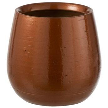 Doniczka Dasha Ø20x18 cm brązowa