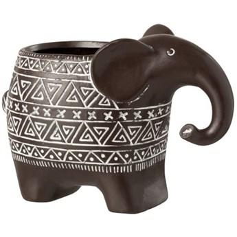 Doniczka Elephant Terracotta 21x15 cm brązowa