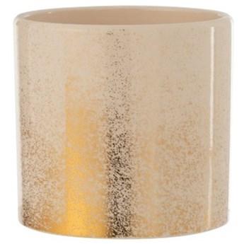Doniczka Mitlas Ø17x16 cm beżowo-złota