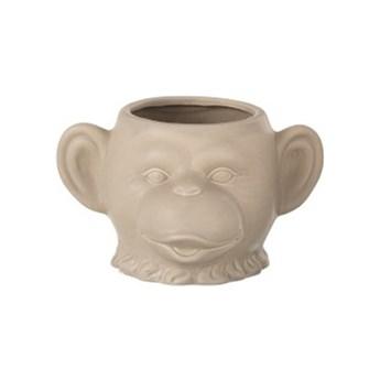 Doniczka Monkey 19x12 cm beżowa