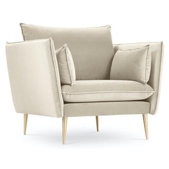 Fotel Agate 78x97 cm beżowy nogi złote