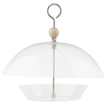 Karmnik dla ptaków Dome Ø30x28 cm transparentny