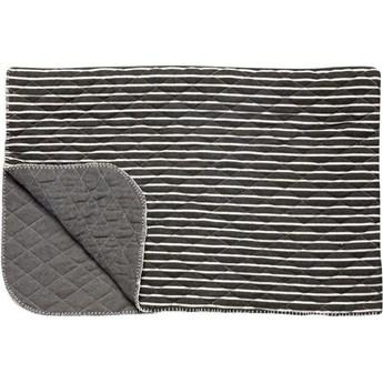 Koc Stripes 165x110 cm szaro-biały