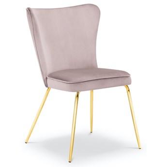 Krzesło Ari 54x88 cm lawendowe nogi złote