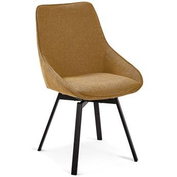 Krzeslo obrotowe Jenna w kolorze musztardowym