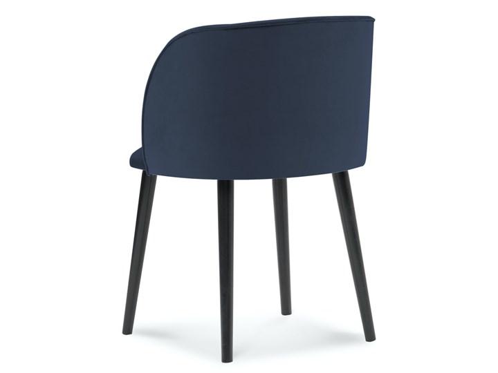 Krzesło Nawajo 55x80 cm ciemnoniebieskie Tapicerowane Kategoria Krzesła kuchenne