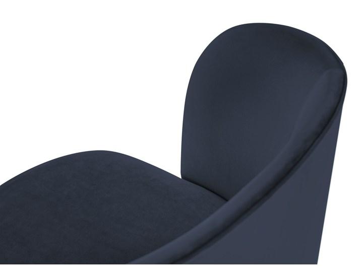Krzesło Nawajo 55x80 cm ciemnoniebieskie Tapicerowane Kategoria Krzesła kuchenne Kolor Granatowy