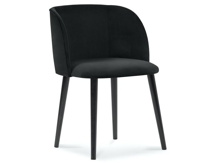 Krzesło Nawajo 55x80 cm czarne Tapicerowane Z podłokietnikiem Drewno Tkanina Kolor Czarny