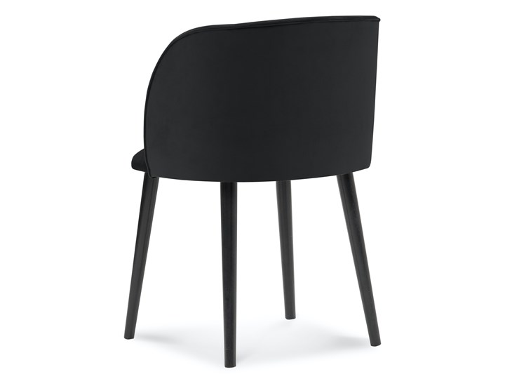 Krzesło Nawajo 55x80 cm czarne Tkanina Drewno Tapicerowane Z podłokietnikiem Pomieszczenie Salon