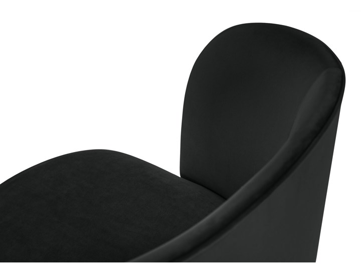 Krzesło Nawajo 55x80 cm czarne Tapicerowane Drewno Tkanina Z podłokietnikiem Styl Nowoczesny Pomieszczenie Salon