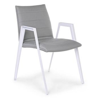 Krzesło ogrodowe z podłokietnikami Axor 57x84 cm szare