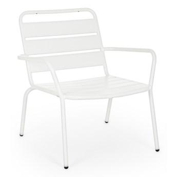 Krzesło ogrodowe z podłokietnikami Marlyn 65x71 cm białe