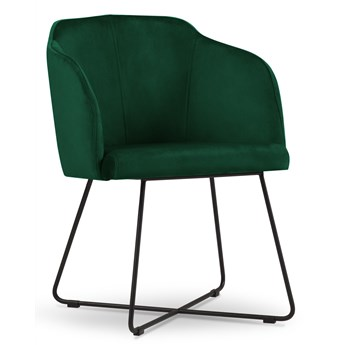 Krzesło z podłokietnikami Neo 53x79 cm butelkowa zieleń