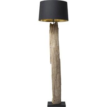Lampa podłogowa Nature Straight 52x171 cm czarno-drewniana