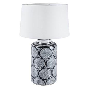 Lampa stołowa Antifone ∅18x63 cm czarno-biała