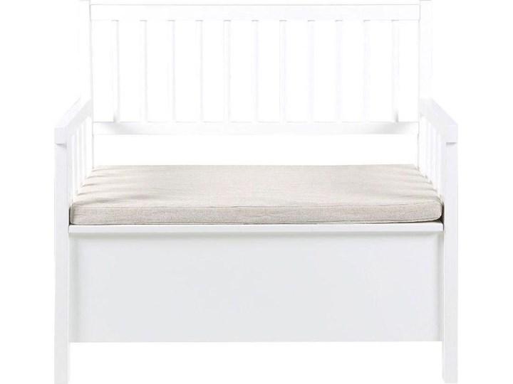 Ławka Aster 90x85 cm biała Kolor Biały Kategoria Ławki ogrodowe