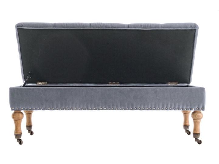 Ławka z pojemnikiem Arlette 110x40 cm szara Kategoria Ławki do salonu