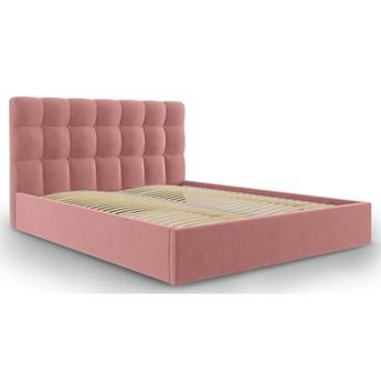 Łóżko Phaedra 140x200 cm różowe welurowe