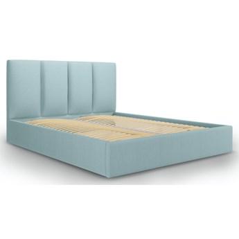 Łóżko z pojemnikiem Pyla 140x200 cm jasnoniebieskie