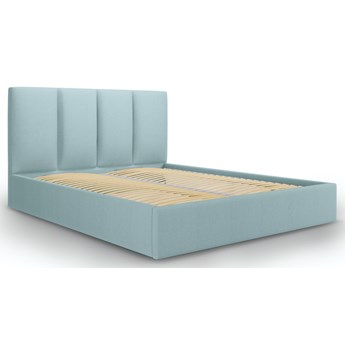 Łóżko z pojemnikiem Pyla 160x200 cm jasnoniebieskie