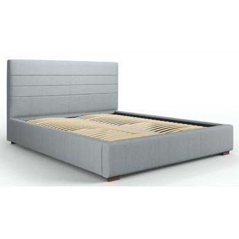 Łóżko z pojemnikiem Aranda 140x200 cm jasnoszare