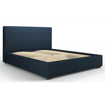 Łóżko z pojemnikiem Aranda 140x200 cm niebieskie
