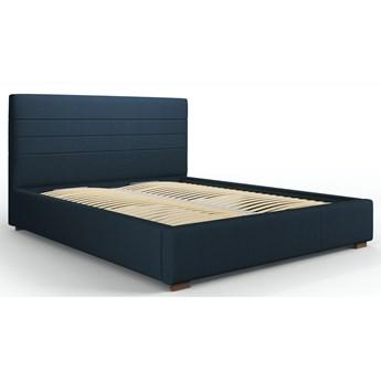 Łóżko z pojemnikiem Aranda 160x200 cm niebieskie