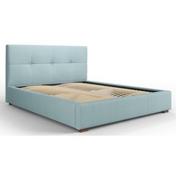 Łóżko z pojemnikiem Sage 140x200 cm jasnoniebieskie
