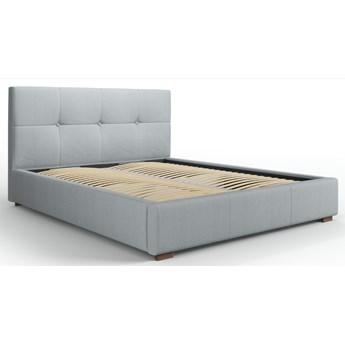 Łóżko z pojemnikiem Sage 140x200 cm jasnoszare