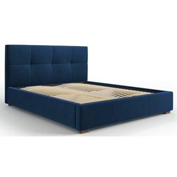 Łóżko z pojemnikiem Sage 140x200 cm królewski niebieski welur