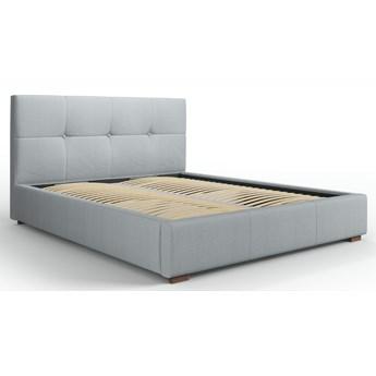 Łóżko z pojemnikiem Sage 160x200 cm jasnoszare