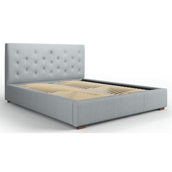 Łóżko z pojemnikiem Seri 140x200 cm jasnoszare