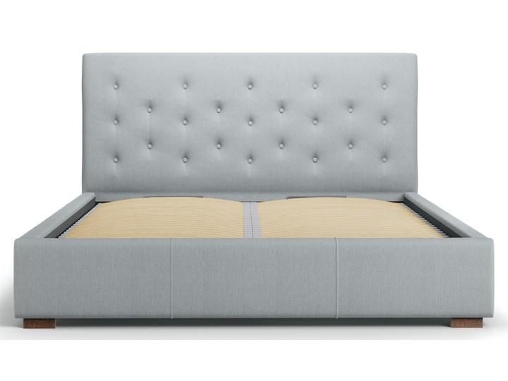 Łóżko z pojemnikiem Seri 140x200 cm jasnoszare Łóżko tapicerowane Łóżko pikowane Kolor Szary