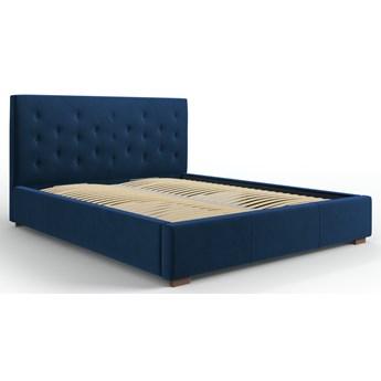 Łóżko z pojemnikiem Seri 140x200 cm królewski niebieski welur