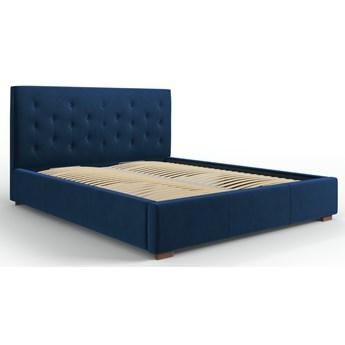 Łóżko z pojemnikiem Seri 160x200 cm królewski niebieski welur