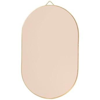 Lustro ścienne Roso 26x43 cm różowo-złote