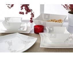 Zestaw talerzy obiadowych KWADRATY na 6 osób (20 el.)