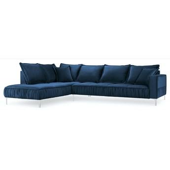 Narożnik 5-os. Jardanite 296x213 cm królewski niebieski nogi srebrne lewy